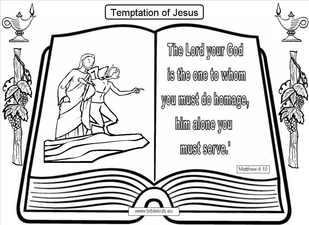 free coloring pages of temptation of christ. Black Bedroom Furniture Sets. Home Design Ideas