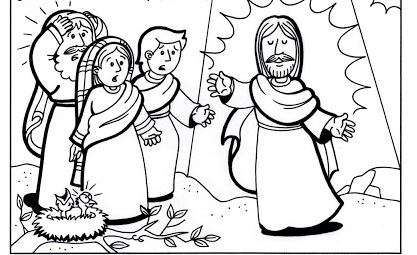 Transfiguration of Jesus coloring pages | Transfiguration of Jesus