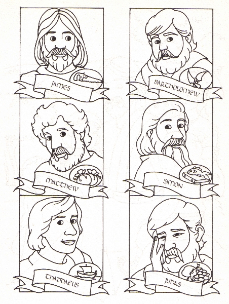 desciples of jesus coloring pages - photo#22