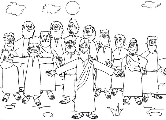 jesus disciples coloring pages - photo#11