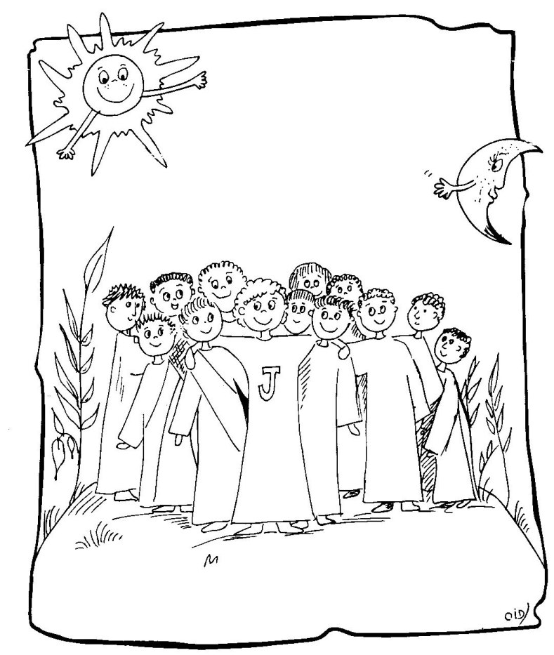 Twelve Apostles coloring page : Twelve Apostles of Jesus