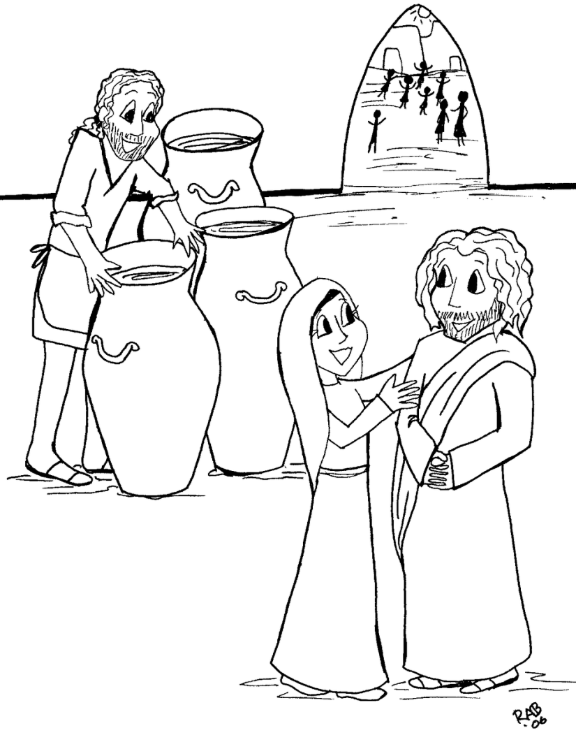Coloring Pages For Jesus Turning Water Into Wine : Images about jesue turns water into wine on pinterest