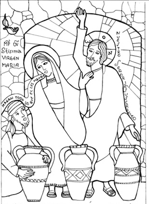 wedding at cana coloring pages | 1000+ images about Noces de Cana on Pinterest