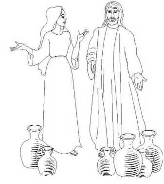 wedding at cana coloring pages | Marriage at Cana coloring page | Wedding at Cana