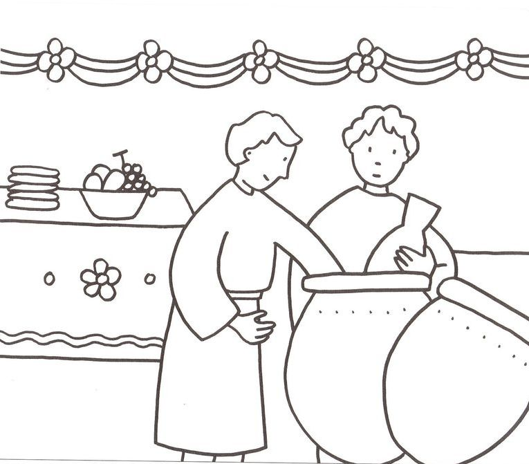Marriage at Cana coloring page