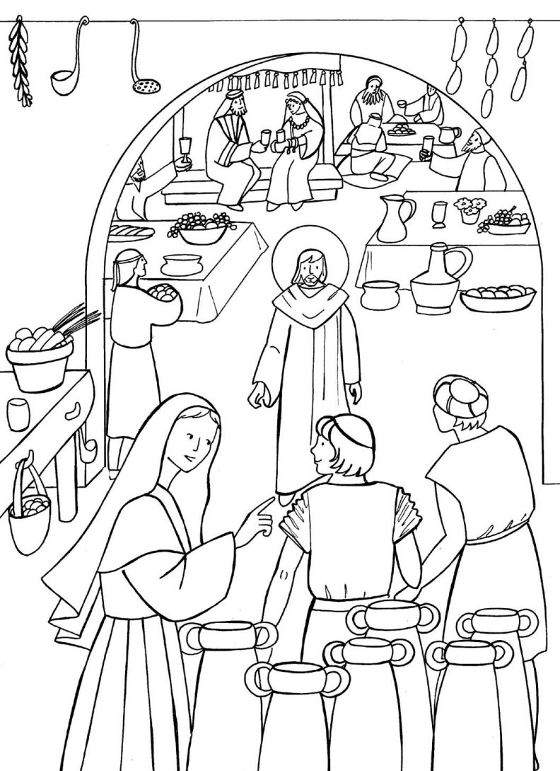 Marriage at Cana Coloring Pages