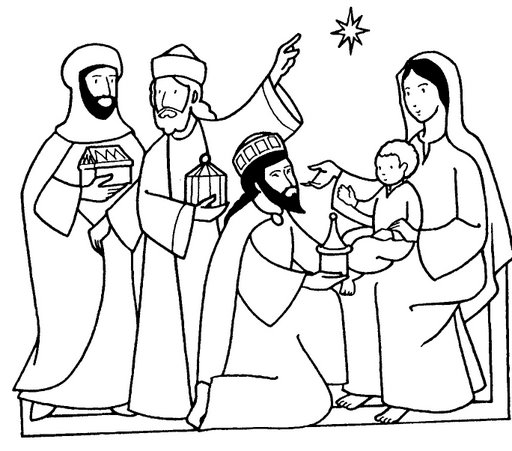 Wise men coloring page the image kid for Wisemen coloring pages