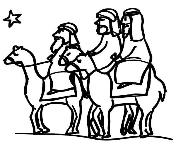 Silhouette Wise Men Coloring Coloring Pages