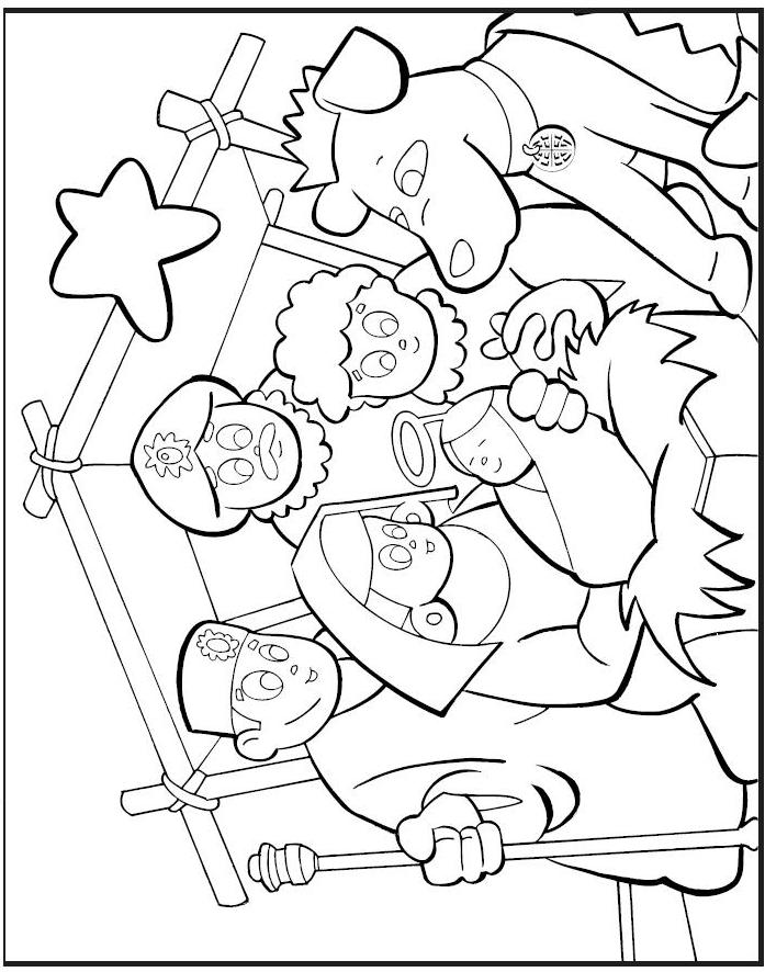 The Christmas Story Coloring Pages - Three Wise Men | 886x697