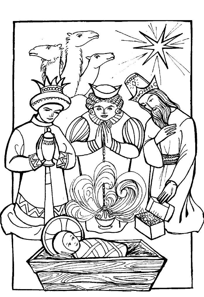 bible coloring pages wise men - photo#29