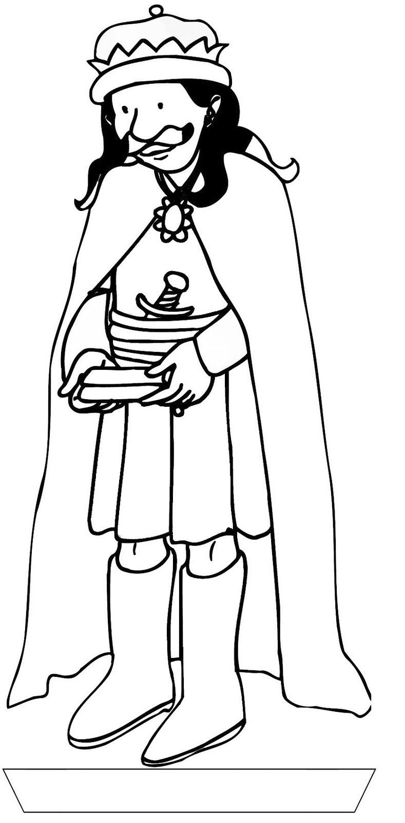 Wise Man Coloring Page Biblical Magi Three Kings Wise Worship Coloring Page