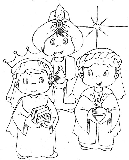 coloring pages of three kings - photo#24