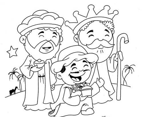 Three Kings Coloring Pages - Coloring Home | 411x500