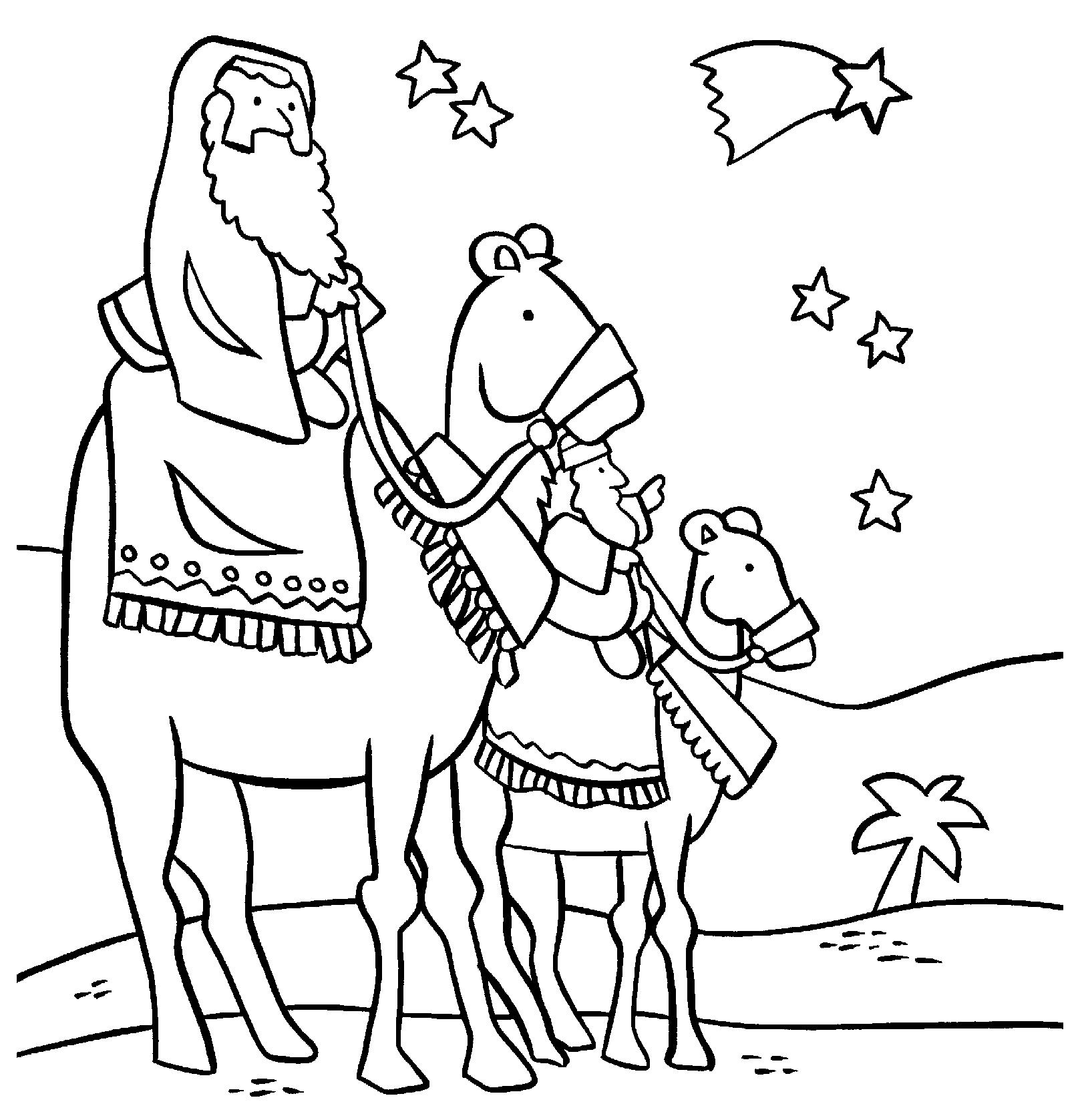 Wise Men Colouring Pages Wise Worship Coloring Page