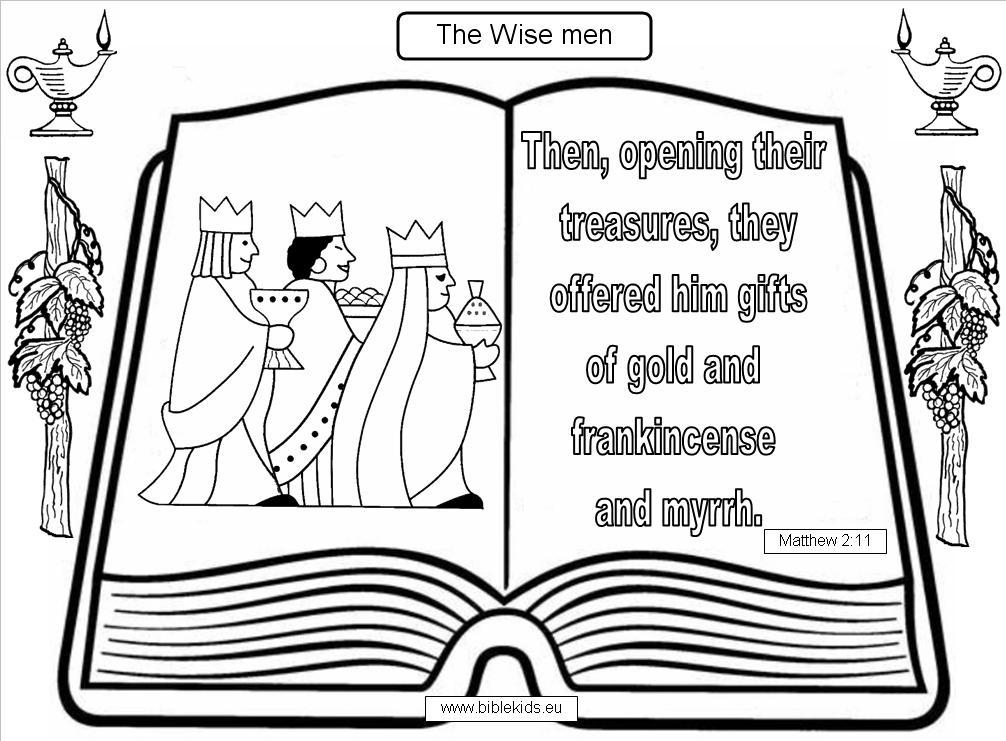 gold frankincense and myrrh coloring pages | Wise Men-Three Kings-Biblical Magi