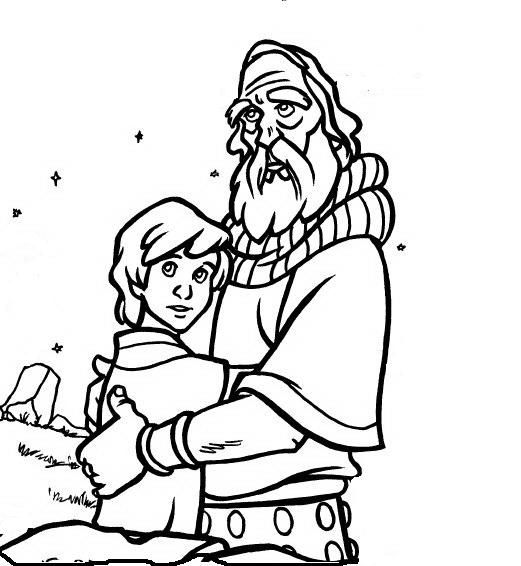 32 - Abraham And Isaac Coloring Page