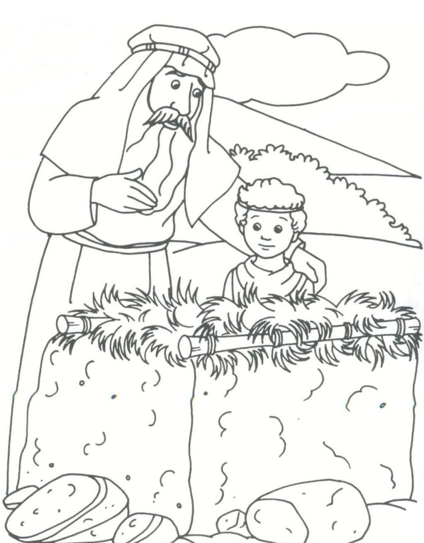 free bible character coloring pages - abraham abraham drawings