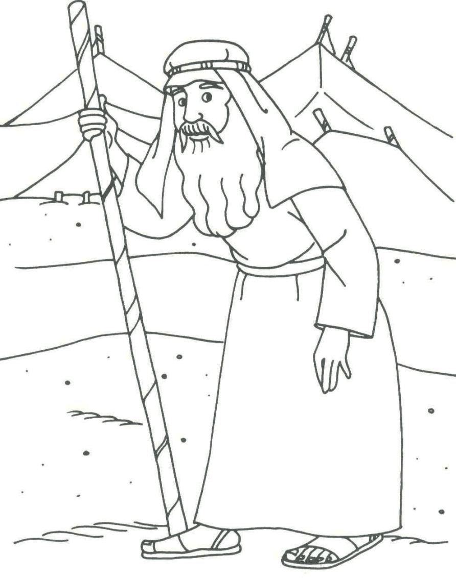 Coloring Pages For Job In The Bible : Abraham drawings