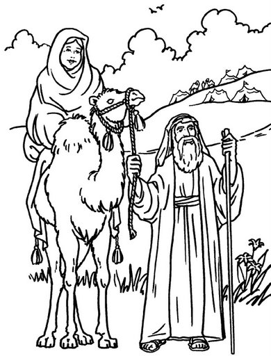 Free Coloring Pages Of Bible Abraham