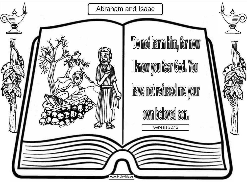 abraham sacrifices isaac coloring pages