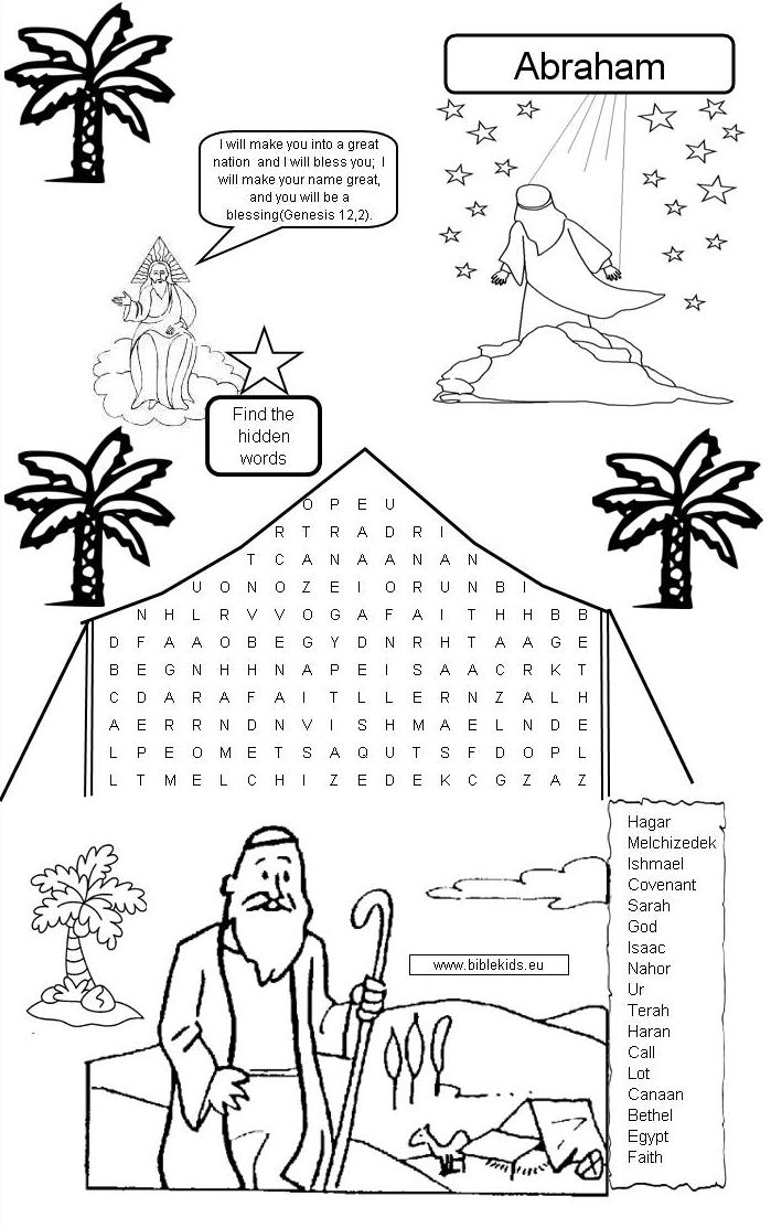 Free Coloring Pages Of God Calls Abraham
