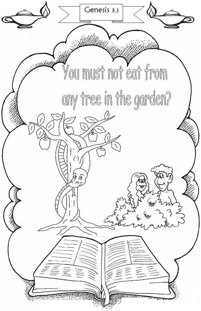 Adam And Coloring Pages Bible Verse