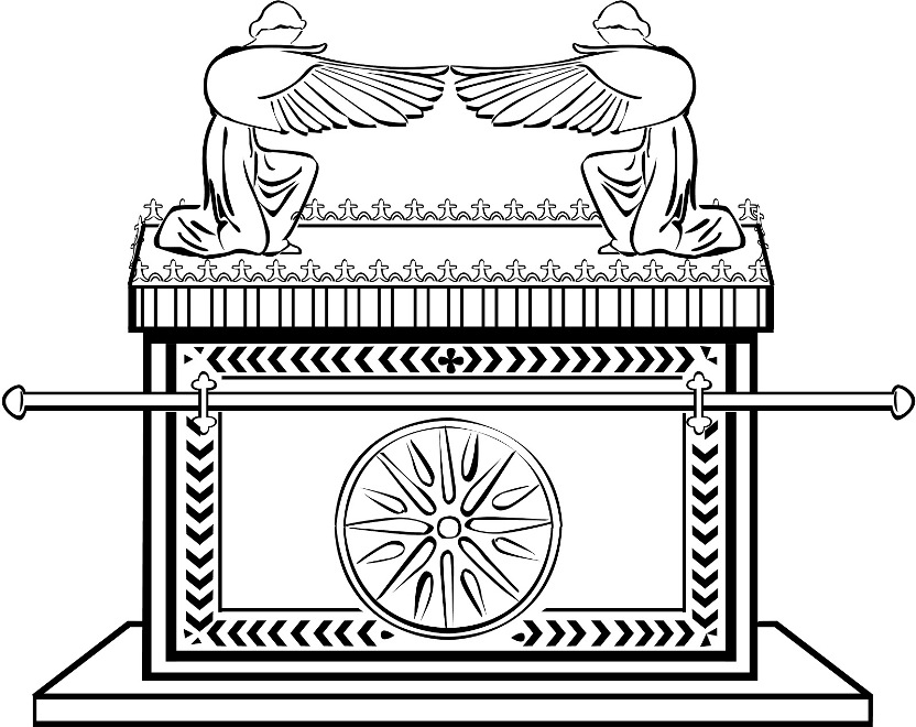 Cuvanit free coloring pages for Ark of the covenant coloring page