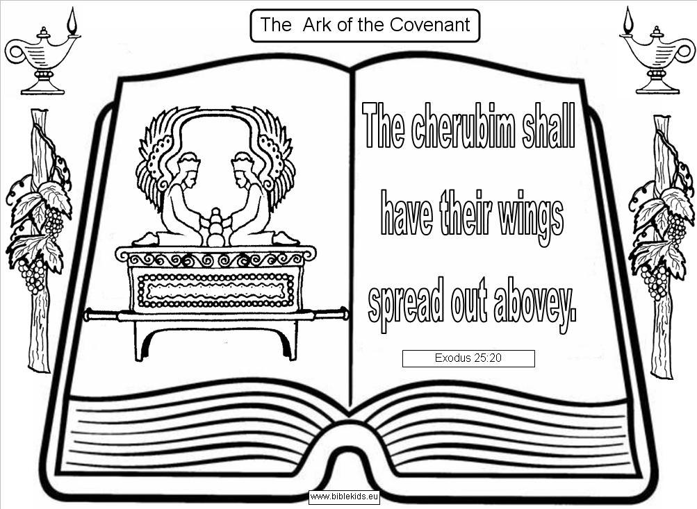 Ark of the covenant for Ark of the covenant coloring page