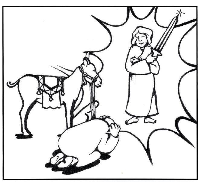 FREE Balaam's Donkey Bible Coloring Page | Preschool Bible ... | 602x665