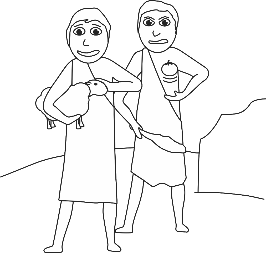 cain and abel coloring pages - photo#24