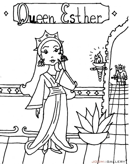 Awesome Esther Bible Story Coloring Pages Photos - Triamterene.us ...