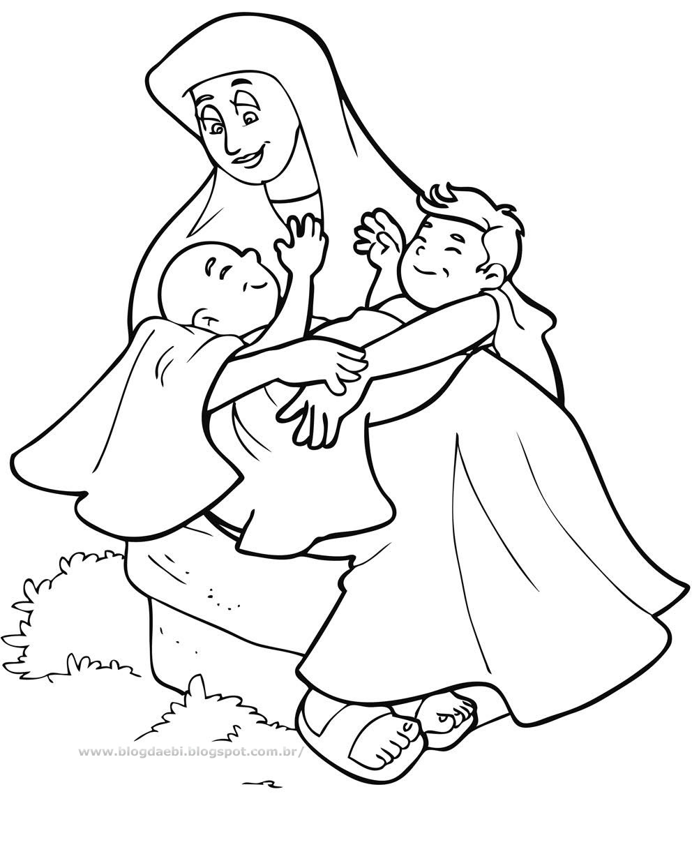 Free Coloring Pages Of Esau Forgives Jacob