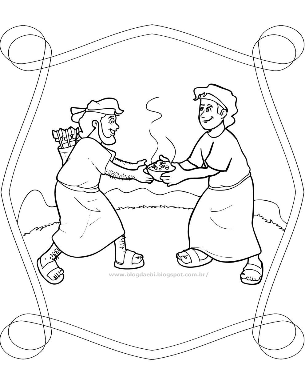 jacob meets esau coloring pages - photo#27