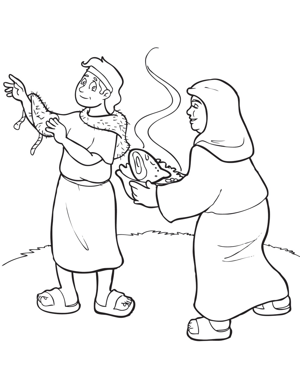 jacob meets esau coloring pages - photo#50