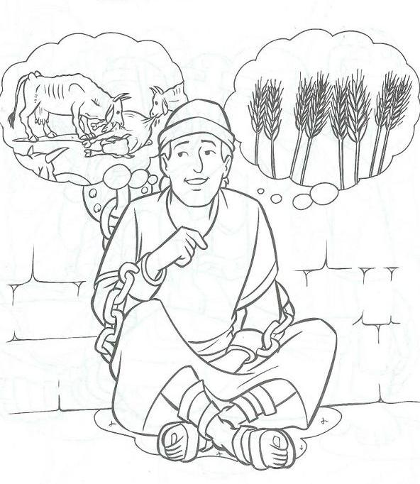 The Joseph And Baker Dreams Coloring Page Coloring Pages