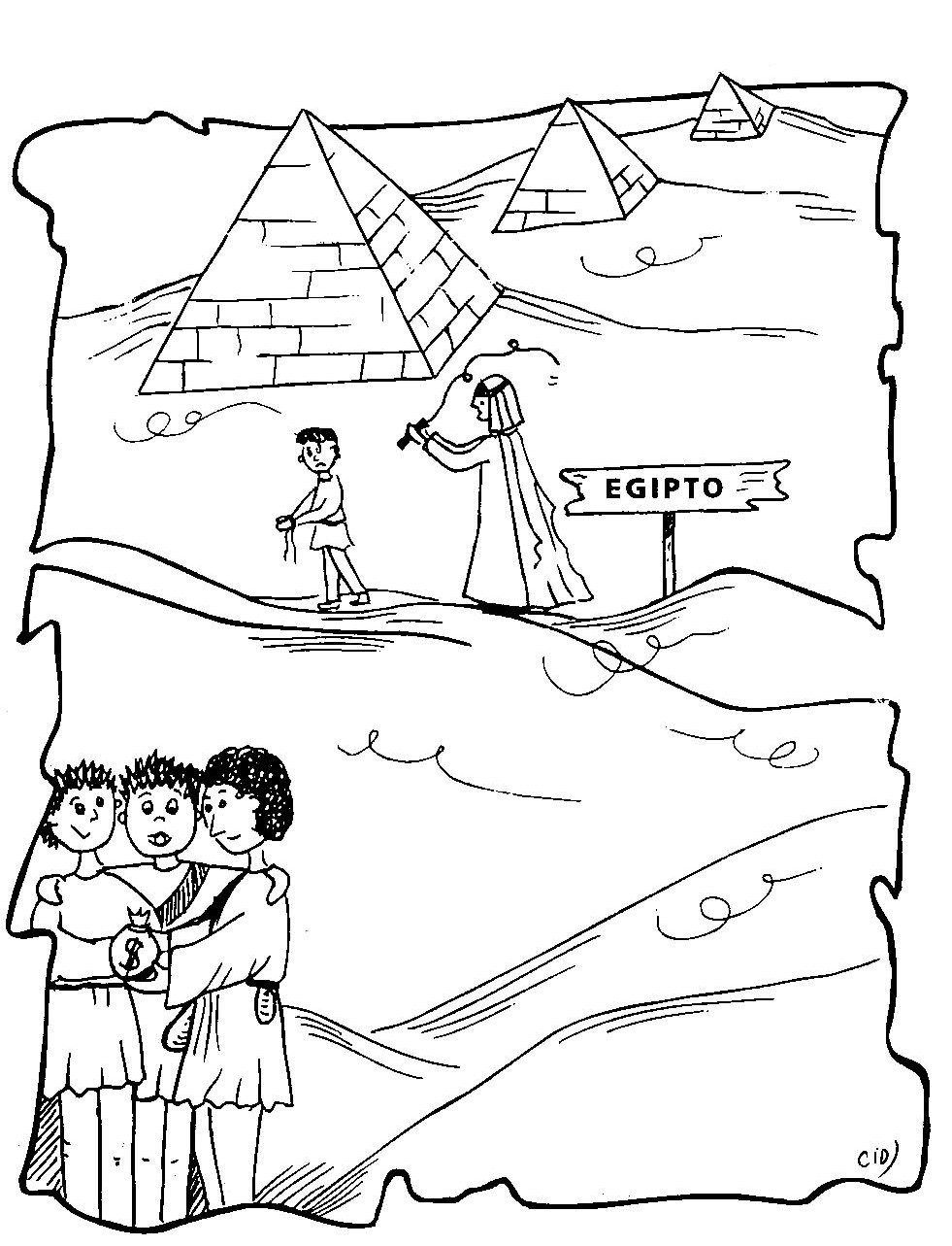 joseph in egypt coloring pages - photo#25