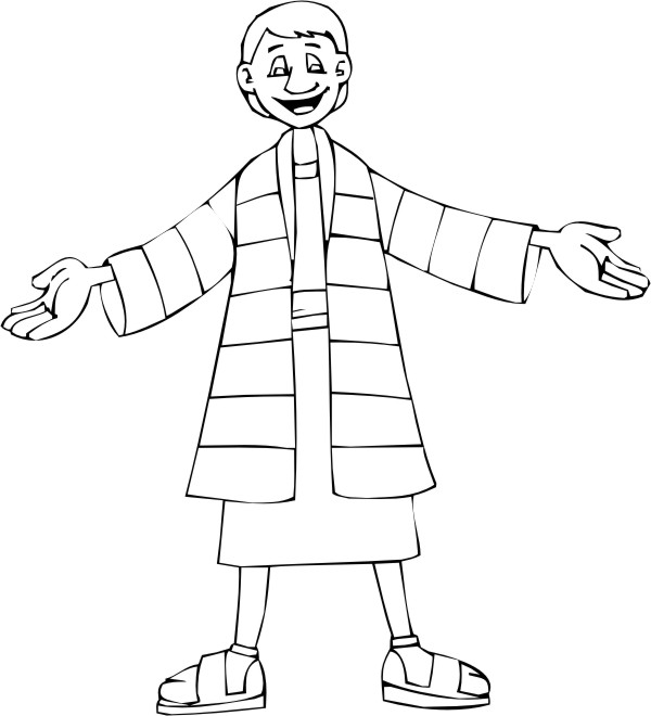 Joseph S Coat Of Many Colors Coloring Page Coat Of Many Colors