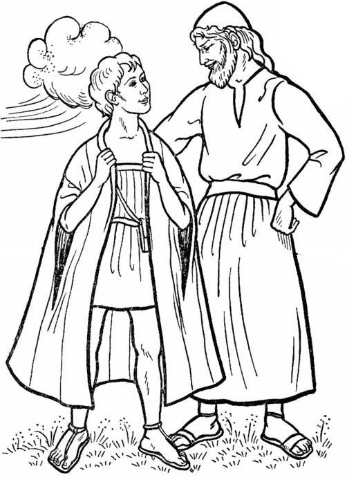 Joseph 39 s coat of many colors joseph 39 s coat drawings for Bible coloring pages joseph