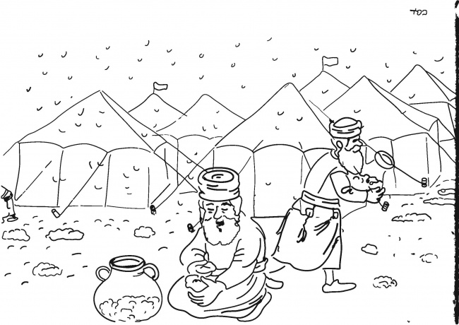 bible coloring pages moses manna game   Manna from Heaven