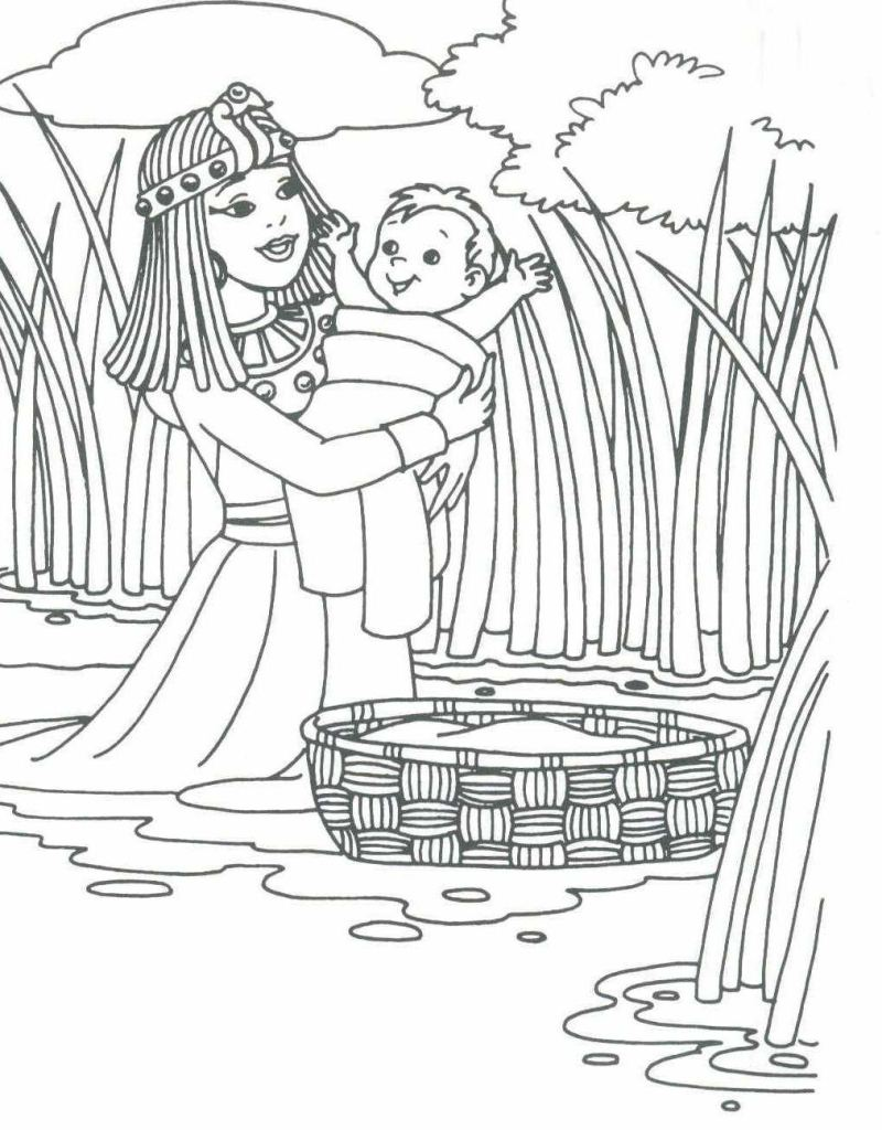 Baby moses Printable coloring