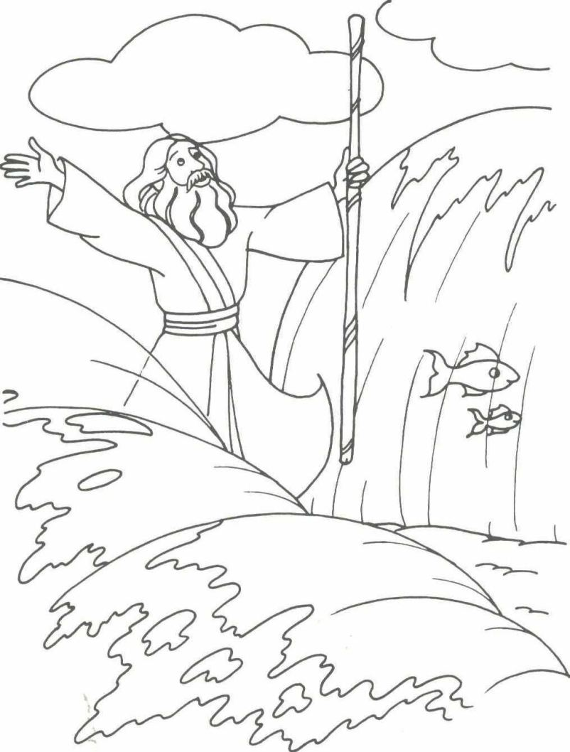 moses coloring pages moses drawings