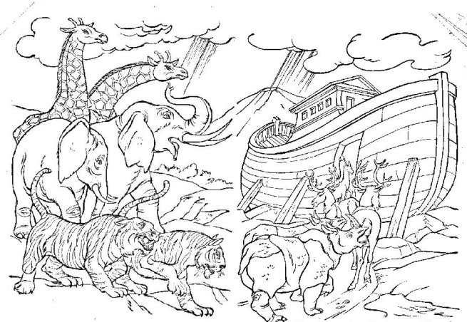 noahs ark coloring pages story - photo#3