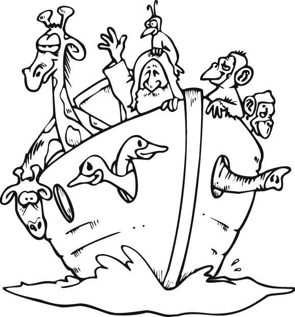 Noah noah 39 s ark for Noah ark coloring page