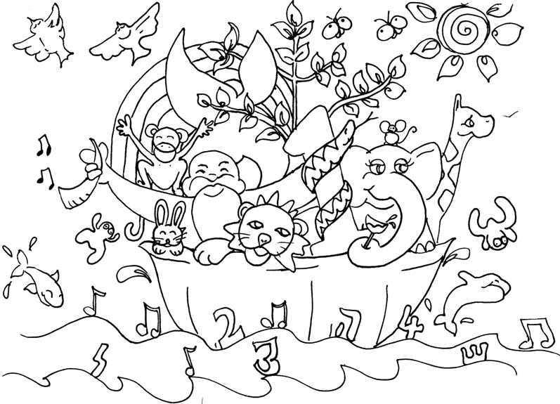 pics photos noah ark colouring pages page 2