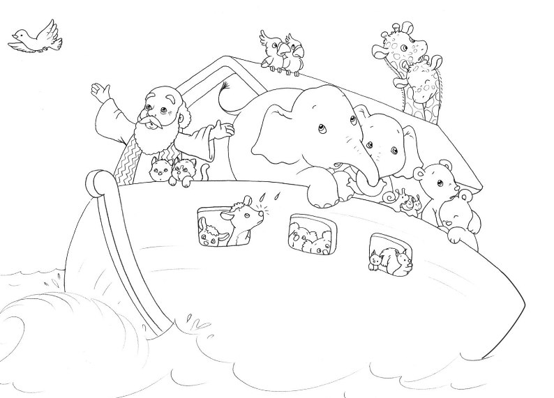 noahs ark coloring pages story - photo#6