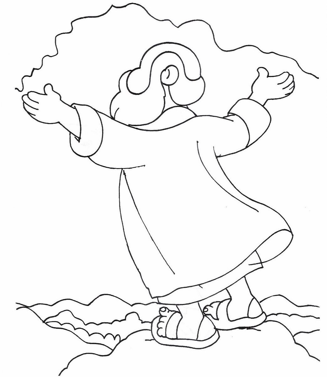 Bible Story Noah And The Ark Coloring Pages