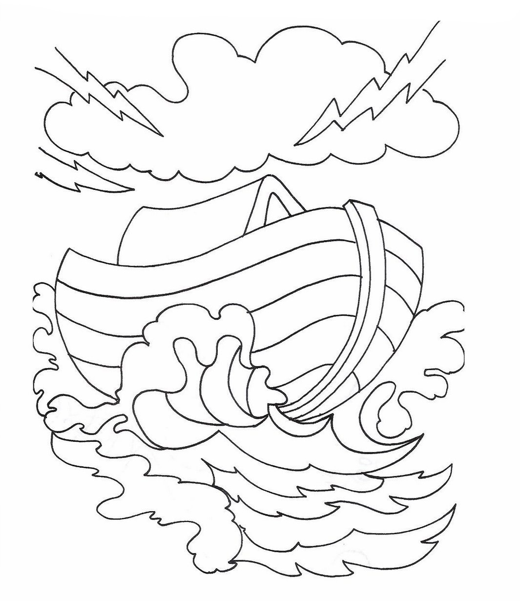 Pin Noah39s Ark Colouring Pages On Pinterest