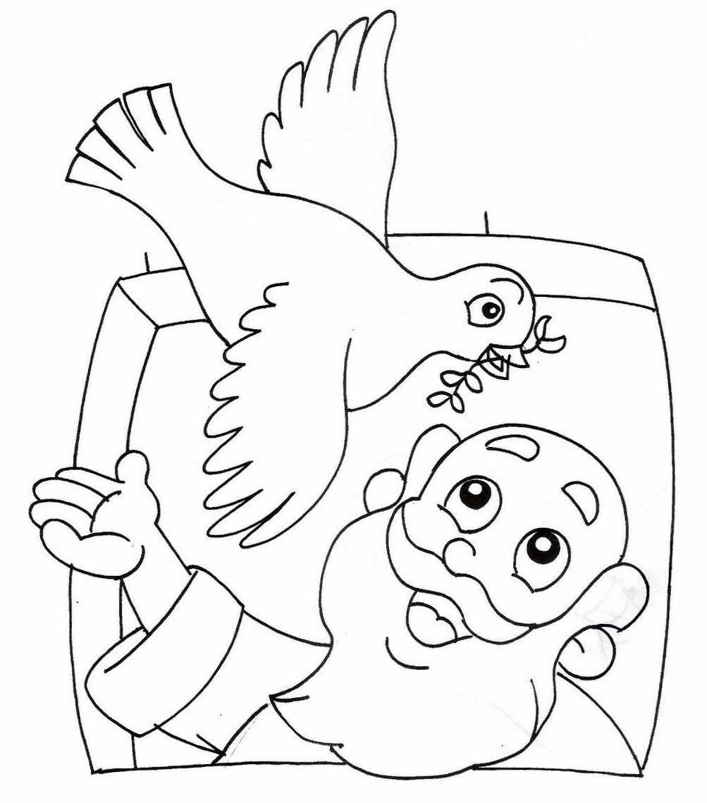 The Story Of Noah Coloring Pages