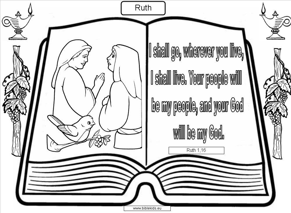ruth bible coloring pages - photo#33