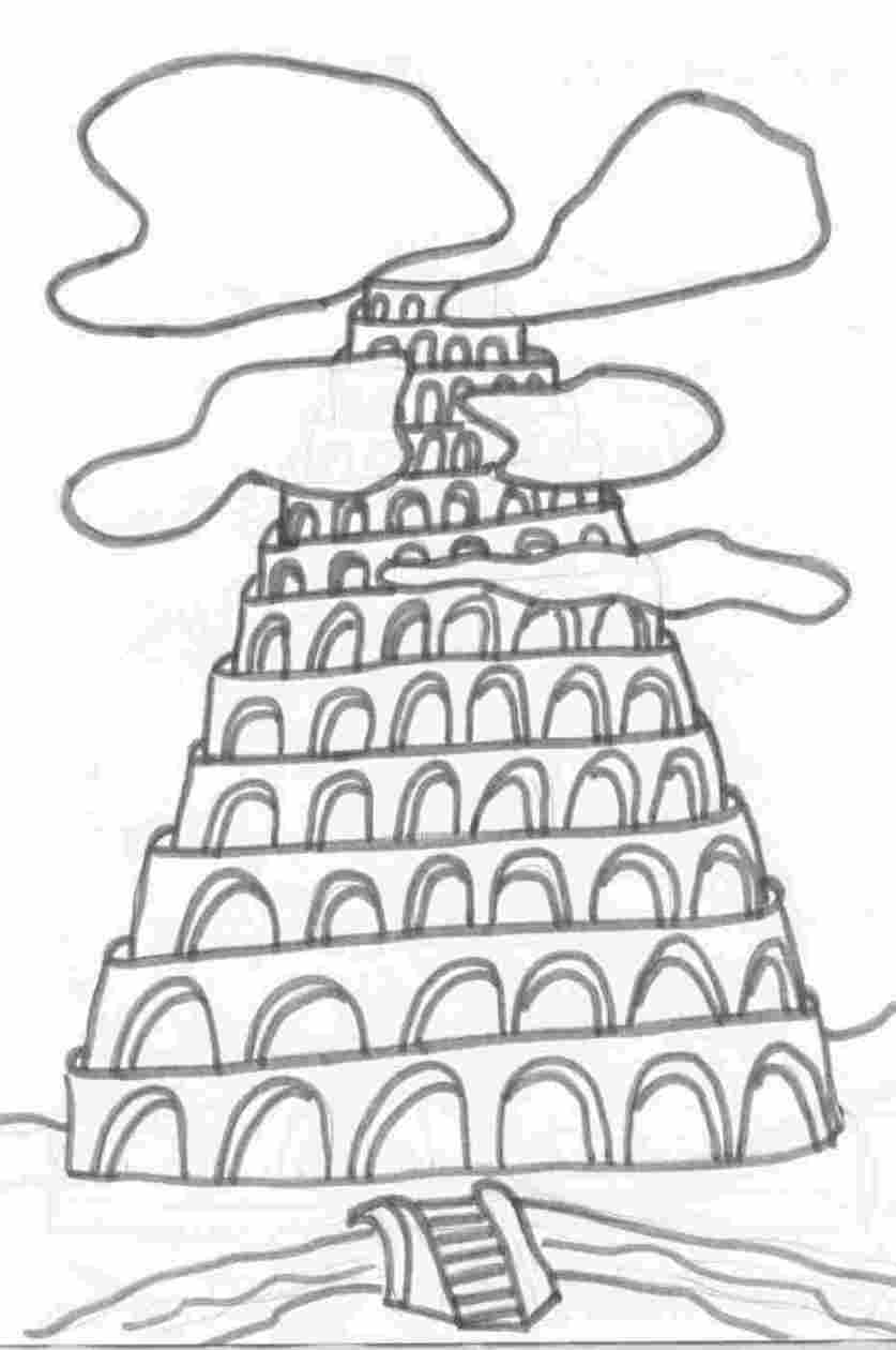 tower of babel coloring pages 28 images tower of babel